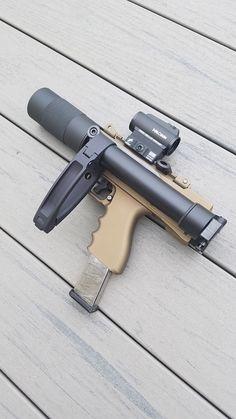 Airsoft Guns, Weapons Guns, Guns And Ammo, Tactical Accessories, Armas Ninja, Custom Guns, Custom Glock, Cool Guns, Military Weapons