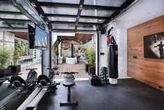 """""""View this Great Contemporary Home Gym with specialty door by Lang Lequang. Discover & browse thousands of other home design ideas on Zillow Digs."""""""