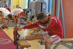 AD 2013 styczeń kadra Bieglera w siłowni