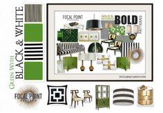 GREEN + BLACK + WHITE   Olioboard #BenjaminMoore