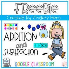 Subtraction Kindergarten, Subtraction Activities, Math Activities, 1st Grade Math, Addition And Subtraction, Google Classroom, Math Centers, Language Arts, English Language