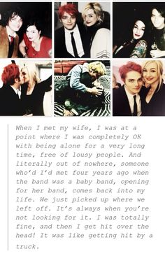 Gerard Way | quote about being in love! :)