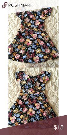 floral skater dress new, never worn, NWOT. NO TRADES, please don't ask! make me an offer!  Forever 21 Dresses Mini