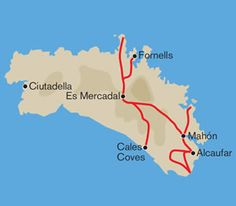 Self-guided hotel-to-hotel cycling holiday in Menorca, bags transported. Local Map, Cycling Holiday, Quality Hotel, Menorca, Places To Go, Landscape, Scenery, Landscape Paintings, Corner Landscaping