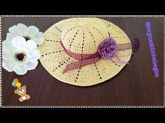 Sombrero A Crochet, Crochet Bikini, Diy And Crafts, Make It Yourself, Holiday Decor, Youtube, Templates, Crochet Hats, Lace