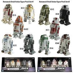 Hasbro Star Wars figures EE astromech droid pack series I and II MISB - Star Wars Droids, Star Wars Toys, Lego Star Wars, R2 Unit, Mandalorian Armor, Star Wars Canon, Galactic Republic, Star Wars Wallpaper, Star Wars Fan Art