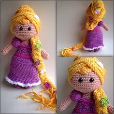 Crochet Rapunzel doll ♡ lovely doll