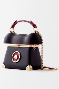 Ines Figaredo, Fall Winter 2016, 34 Black Leather Telephone Handbag
