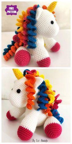 Crochet amigurumi 775815473287428093 - Crochet Baby Unicorn Toy Amigurumi Free Patterns – Source by Crochet Baby Toys, Crochet Amigurumi Free Patterns, Crochet Animal Patterns, Stuffed Animal Patterns, Cute Crochet, Crochet For Kids, Crochet Animals, Crochet Unicorn Pattern Free, Knitting Patterns
