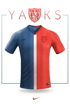 National football teams concept jersey design, Nike.