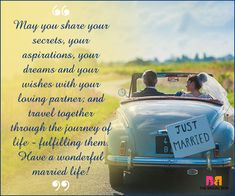Marriage Wishes SMS - Secrets, Aspirations And Dreams Marriage Wishes Message, Wedding Wishes Messages, Wedding Congratulations Wishes, Wedding Greetings, Good Marriage, Happy Marriage, Happy Anniversary Quotes, Wedding Anniversary, Newlywed Quotes