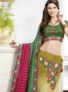 Glorious Multi Colour Zari Work Viscose Lehenga Choli