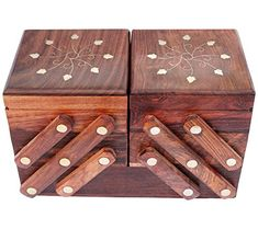 Luxury Solid Indian Wooden Jewelry Box Case - Christmas Gifts For Women | Girls #indianjewelry