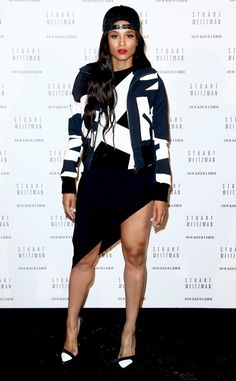 Ciara plays it cool in this funky black-and-white look!