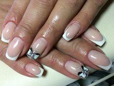 White French White bow Nails