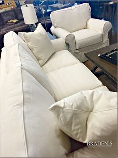 Furniture in Knoxville - Slipcovered Sofas - Knoxville Home Décor - Braden's Lifestyles Furniture - Home Interiors - Knoxville Interior Design - The Design Center at Braden's Lifestyles Furniture
