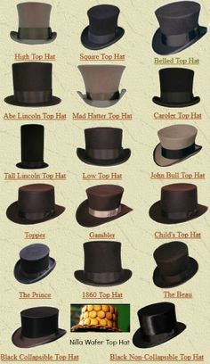 All the amazing top hats...  Well, at least, one is amazing.