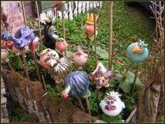 Meine Kreationen aus Ton  garden figures & poles