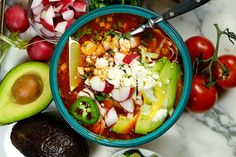 A rich and hearty slow cooker pork and hominy stew, perfect for a wintry day Raw Food Recipes, Soup Recipes, Chicken Recipes, Cooking Recipes, Cooking Tips, Freezer Recipes, Freezer Cooking, Drink Recipes, Crockpot Recipes