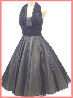 Blue Velvet Vintage exclusive 50's inspired halter style party dress #madmen #fashion