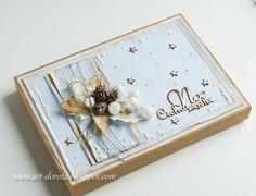 Dorota_mk Christmas Gift Box, Christmas Cards, Mini Albums Scrap, Tag Design, Winter Cards, Greeting Cards Handmade, Decoration, Handmade Crafts, Gift Tags
