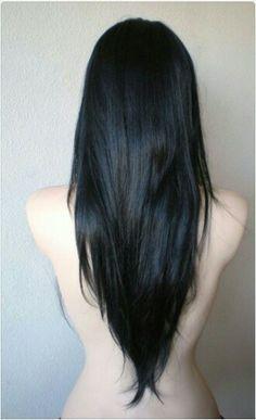 long v shaped hair - Google Search