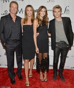 Got the memo: Rande Gerber, Cindy, Kaia and Presley Gerber all wore black for…