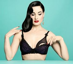 Dita Von Teese icon fashion star has partnered with Destination Maternity to launch a limited edition capsule collection, Van Follies by Dita Von Teese, that aims to embrace s new moms sexy side.