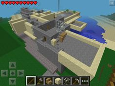 Second floor rooms - side stairs in wood - minecraft PE has no sandstone stairs -YET