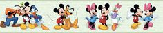 "Room Mates Deco Mickey and Friends 9' x 1.5"" Border Wallpaper"