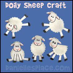 Sheep Craft - Doily Sheep Craft from www.daniellesplace.com