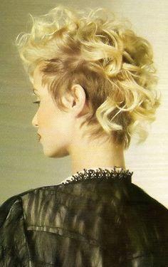 curls of faux hawkk