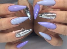 Shades Of Purple And Silver by MargaritasNailz