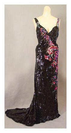 Mode Vintage - Robe de soirée - Broderies, Tulle et Sequins - Worth - années 30