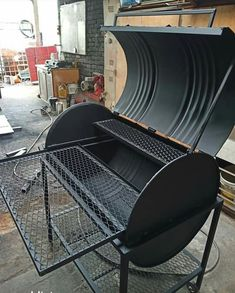 Custom Bbq Smokers, Custom Bbq Pits, Custom Bbq Grills, Outdoor Barbeque, Outdoor Oven, Outdoor Cooking, Barbecue Design, Grill Design, Oil Drum Bbq