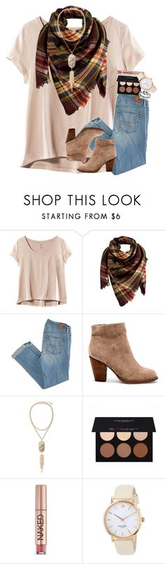 """don't chase people. the right people will come into your life at just the right time."" by ellaswiftie13 on Polyvore featuring H&M, Peach Couture, American Eagle Outfitters, Sole Society, Kendra Scott, Anastasia Beverly Hills, Urban Decay, Kate Spade and Avery"