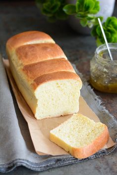 Simple and delicious brioche without kneading Homemade Sandwich Bread, Sandwich Bread Recipes, Croissants, Cooking Bread, Cooking Recipes, Mini Sandwiches, No Cook Desserts, Dessert Bread, I Love Food
