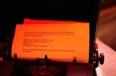 Wedding Mad Libs Ina vintage typewriter.