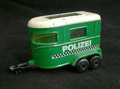 Lesney (Matchbox Series) Polizei Police Pony Trailer Horse. - http://www.matchbox-lesney.com/23135