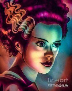 Elsa as the Bride by Elizabeth McTaggart Fractal Art, Fractals, Digital Collage, Digital Art, Abandoned Theme Parks, Bride Of Frankenstein, Love Art, Art For Sale, Fine Art America