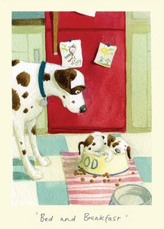 IA70 BED AND BREAKFAST by Alison Friend - A Two Bad Mice Greeting Card