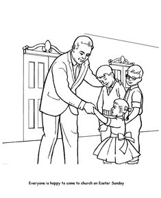 easter church coloring page children in church more httpwww