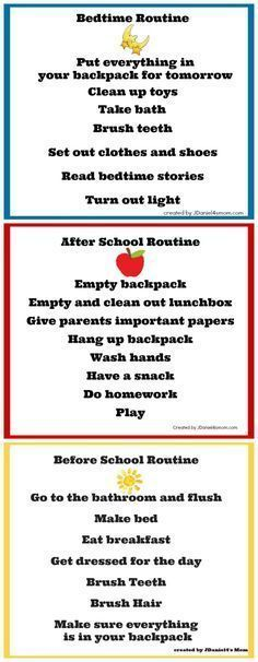 Back to School Chore Charts More #Parenting