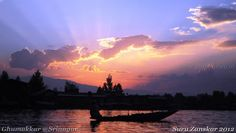 Ghumakkar's Diary: Sunset at Dal Lake  http://www.punitdubey.in/2012/11/zanskar-yatra-part-1-srinagar-dal-lake.html