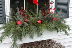 window box ideas | Winter Window Boxes {Lowe's Creative Ideas}
