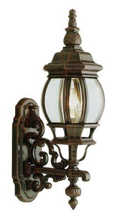 """Trans Globe Lighting 4050 RT Rochelle 20"""" high Outdoor Wall Coach Light"""
