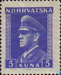 Stamps - Croatia - Ante Pavelic 1943