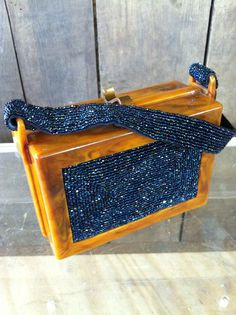 1940s Lucite bag with beading
