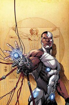 Cyborg cover by Ivan Reis and Joe Prado (DC Comics - Teen Titans) Cyborg Dc Comics, Marvel Dc Comics, Dc Comics Art, Comic Book Characters, Comic Character, Comic Books Art, Comic Art, Black Characters, Nightwing