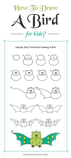 How To Draw A Bird For Kids?